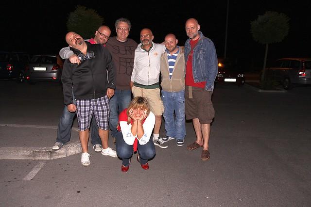 Marijana surrounded by... Ricky, me, Matjaž, Andrea, Steve and Iggy