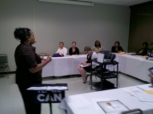 New Orleans Team Leader Jeanell leading a discussion