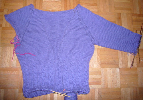 Mr Greenjeans sweater 60% done