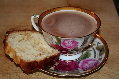 Nutellachocomelk met suikerbrood