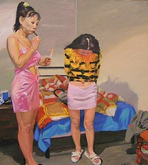 Prostitute girls (Peter Denton) Tags: china girls art contemporaryart paintings canvas prostitutes artgalleries haywardgallery liuxiaodong chinesecontemporaryart cynicalrealismmovement