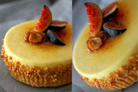 Fig & Hazelnut Crème Brûlée Tart Collage