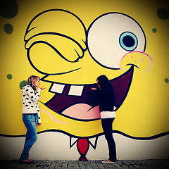 back in summer we went to meet spongebob (lomokitty) Tags: family friends vanessa berlin senior yellow canon germany square deutschland interestingness kiss familie highschool theresa gelb mtv spongebob freunde schwester kuss 2007 nickelodeon 30d mysister i500 tamron1750 tamron1750f28 august2007