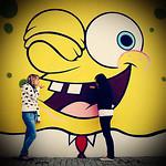 back in summer we went to meet spongebob
