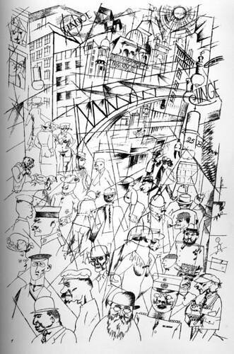 """""""Friedrichstrass"""" by George Grosz, 1918"""