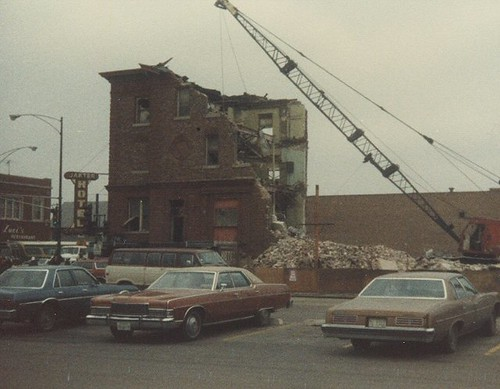 Demolition of the Jakter Hotel in Chicago Illinois. February 1983. by Eddie from Chicago