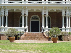 09 The Front Veranda of Longwood - Natchez, Mississippi (sunnybrook100) Tags: mississippi pillar columns gingerbread veranda natchez column mansion verandah pillars antebellum longwood adamscounty victorianarchitecture nationaltrustforhistoricpreservation octagonhouse nrhp