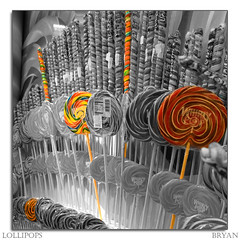 Lollipops (Bryan in NYC) Tags: saturated nikon bright treats sweets swirls colourful lollipop lollipops selectivecolour d80