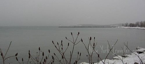 Snow Falling on Lake Ontario