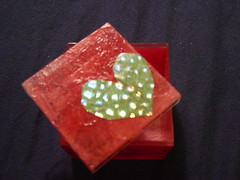 tissue paper and foil. (cassie o'keyboard) Tags: crafts valentines decoupage