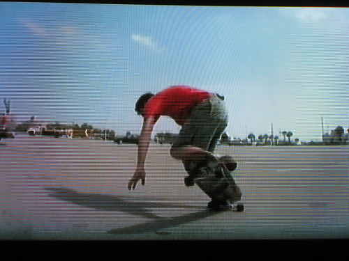 Jamey busts some moves on film in Pensacola, Florida, USA