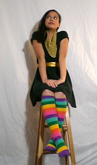 thinking about my to-do list... (Lorena Cupcake) Tags: feet socks catchycolors shoes heels kicks shoegazer kneehighsocks lowerhalf itsmulticolored otks colorlicious