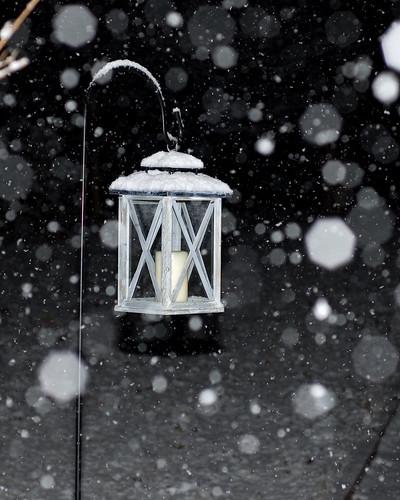 Bokeh Snow Lamp