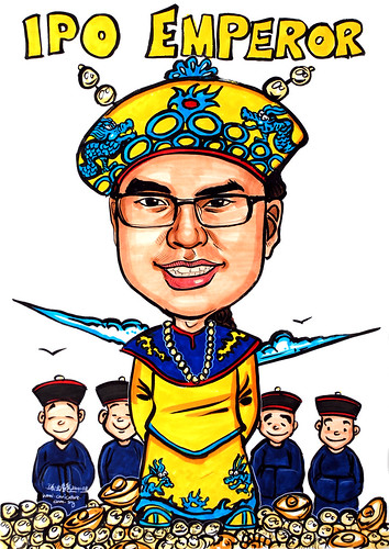 Caricature IPO Emperor Baker Tilly