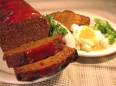 meat loaf and potatoes