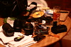 Clutter (harry.1967) Tags: table stuffthatusuallylandsonit ef50mmf18 harry1967 andrewlee focusman5 uk canon 400d sooc gb britain niftyfifty