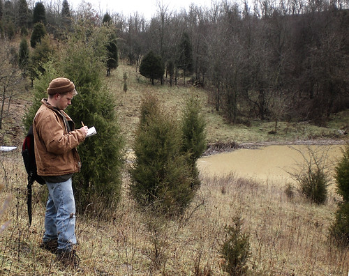 sketching a pond at artCroft