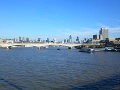 View from Hungerford Bridge (Joanne Murphy) Tags: winter london thames hungerfordbridge waterloobridge mywalktowork