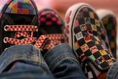 pimped[CONVERSE.VS.VANS] (S) Tags: cherry shoes colorful lol funky jeans converse vans bday pimped a7la orangeya mmsp 3ashog thnain