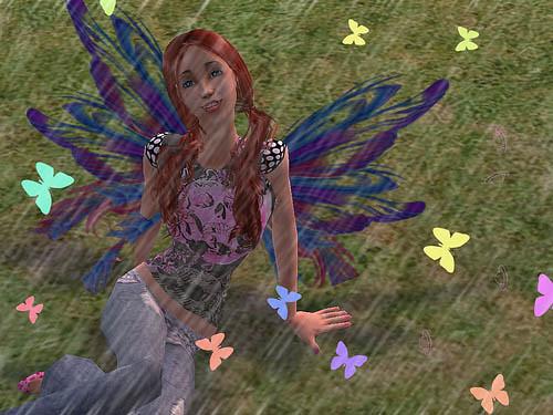 flutterbys with rain by ;_random_amii.