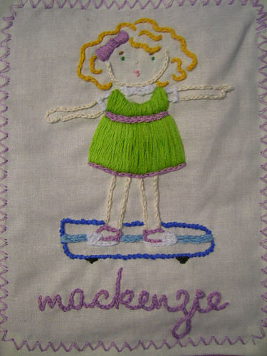 MacKenzie's Hand Embroidered Patch