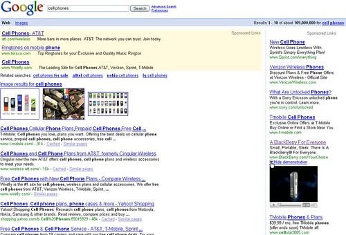 Screenshot of video ad playing in the regular Google search results page