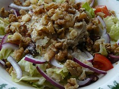 Salad (march 24th) (Bonnie_rabbits) Tags: food tomato salad vegan walnuts olives onion kalamata veganomicon