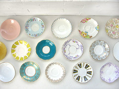 collections } saucers (perfectbound) Tags: vintage thrift collections saucer poppytalk