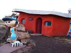 Barney Rubble's house at the fading tourist trap of Bedrock City, Arizona (bedrock26xy) (mlhradio) Tags: arizona grandcanyon amusementpark roadsideamerica touristtrap flintstones bettyrubble bedrockcity weirdus mlhradio