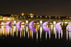 Pont Neuf (Éole) Tags: bridge light france reflection night river europe purple nightshot background violet clear toulouse garonne longshot explored 2pair