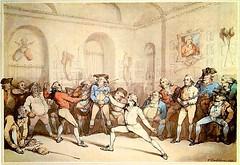 Henrry Angelo academia de esgrima-Rowlandson 1787