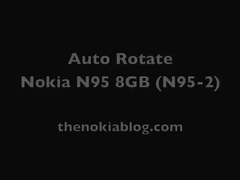 Nokia N95 8GB Built-in Auto Rotation
