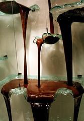 Chocolate Fountain at Bellagio (purpletwinkie) Tags: vegas food window fountain glass marie shop digital canon flow eos rebel xt hotel lasvegas chocolate nevada resort patisserie pastry bellagio cascade liquid jeanphilippe pyp challengeyouwinner pickyourpoison photofaceoffwinner pfogold pfowinner thechallengefactory