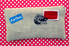 letter clutch - front (::smyii::) Tags: diy mail handmade case stamp purse pouch letter clutch airmail
