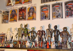 """The Toy Room"" photo 06 (Matt & Kristy) Tags: starwars display collection actionfigures bobafett kenner hasbro hammerhead ig88 4lom dengar zuckuss bountyhunters queenamidala padmeamidala 12inchfigures cardedfigures"