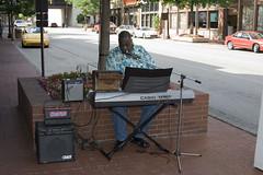 Streetcorner Symphony (RBarowski) Tags: musician music digital canon eos 350d xt keyboard downtown flash casio dslr fortworth sundancesquare speedlite430ex