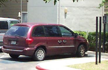 Handicapped Parking Violator