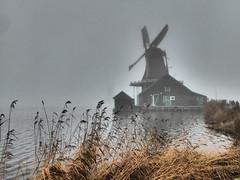 Winter Canal (m_artijn) Tags: zaanse schans windmill mill dutch mist cane canal winter moody zaandam nl