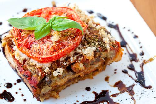 Rustic Bread and Eggplant Lasagna