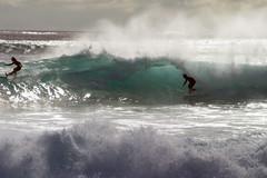 Wahine Cut Back Westside 2005 (sgblyth) Tags: ocean beach hawaii surf waves surfer tube tubes barrel wave surfing longboard westside vagues olas welle ola onde wahine longboarding vahine longboarder