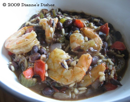Spicy Black Beans and Shrimp