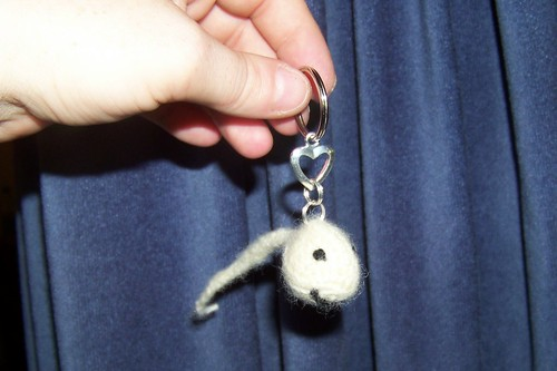 Stevie the Spermie with keychain