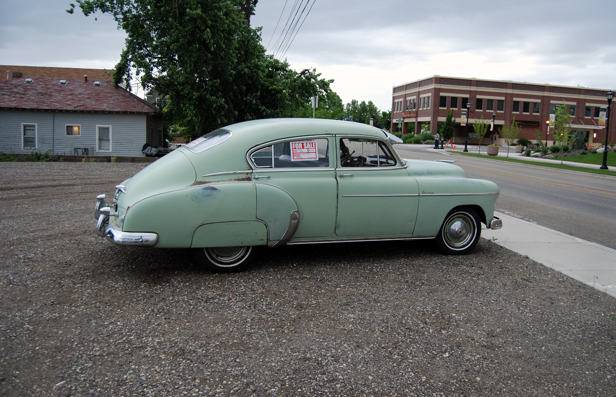 1950 Chevrolet DeLuxe. go back