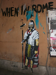 When In Rome (Smeerch) Tags: above streetart rome roma stencil aerosolart gladiator wheninrome gladiatore celio attacchino artedistrada gladiatori piazzadelcolosseo attacchini viadisangiovanniinlaterano
