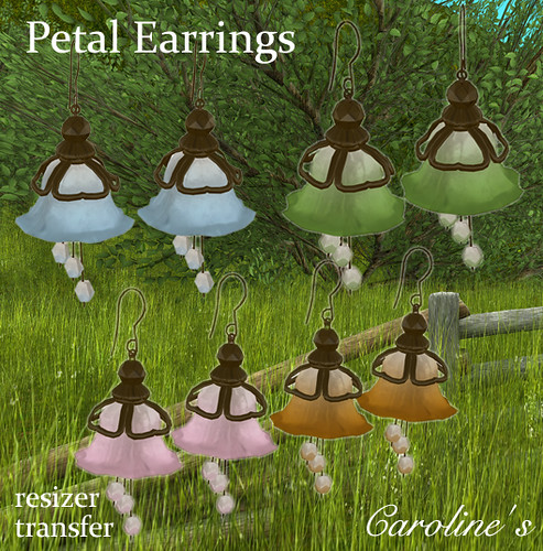 Caroline's Jewelry Petal Earrings