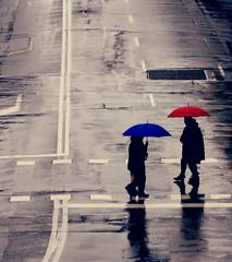 Let's all get happy  (Yes Ouh Yeah) Tags: blue red grey felicidad umbrellas