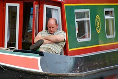 Its tough on the canal (Adrian Court LRPS) Tags: sleeping water boats miltonkeynes grandunioncanal narrowboats campbellpark