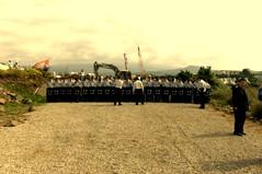 海軍軍港建設現場,警方為建設護航。(照片提供: Park, JungJoo, The Frontiers)