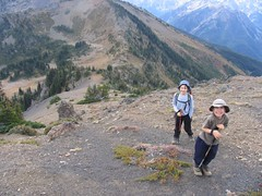 Hiking above Marmot Pass