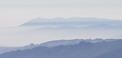 Turist i Kalifornien Mount Tamalpais